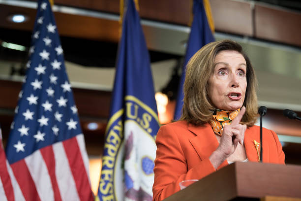 DC: Speaker Pelosi Holds Her Weekly News Conference On Capitol Hill