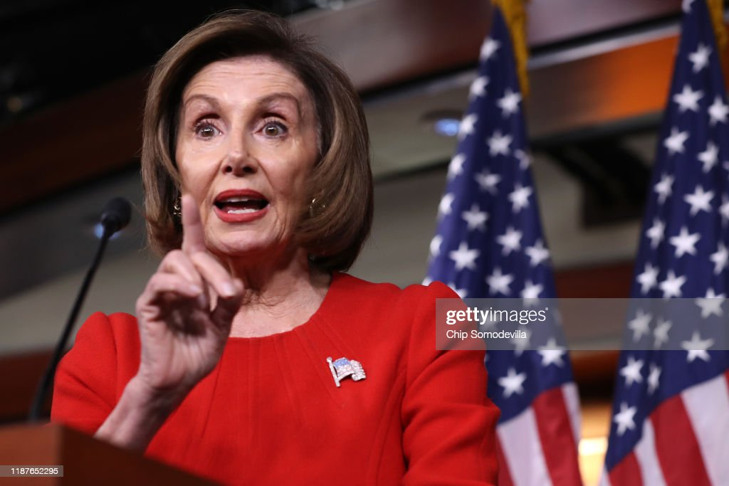 Speaker Pelosi Holds Weekly Press Conference : News Photo