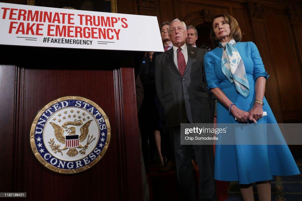 Speaker Nancy Pelosi Holds News Conference On Resolution To Terminate President Trump's Emergency Declaration : News Photo