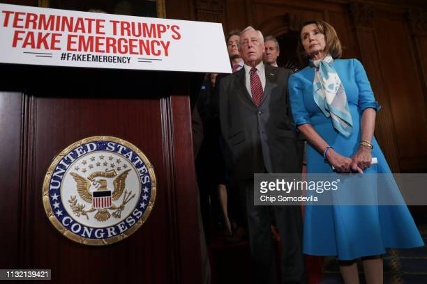Speaker of the House Nancy Pelosi is joined by House Majority Leader Steny Hoyer and other House Democrats for a news conference on the Privileged...