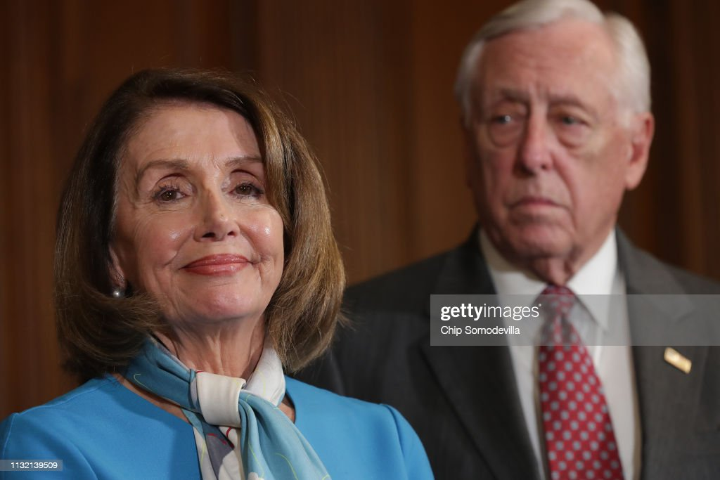 Speaker Nancy Pelosi Holds News Conference On Resolution To Terminate President Trump's Emergency Declaration : News Photo