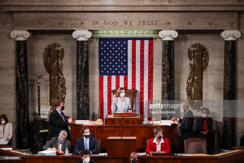 The U.S. House Of Representatives Convenes 117th Congress, Swears In New Members : News Photo
