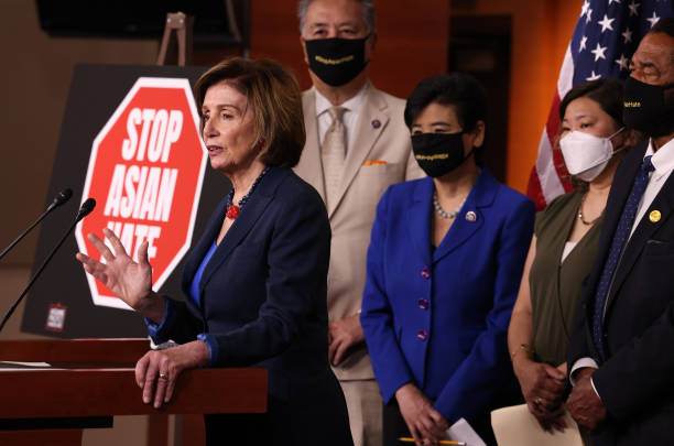 DC: Speaker Pelosi Holds News Conference On COVID-19 Hate Crimes Act With Asian Pacific American Caucus