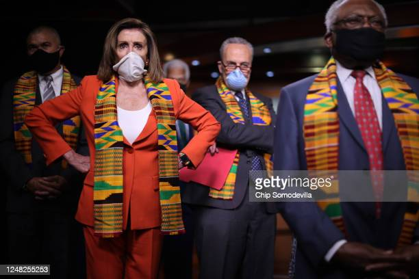 Speaker of the House Nancy Pelosi joins fellow Democrats from the House and Senate, including Rep. Lacy Clay , Senate Minority Leader Charles Schumer...