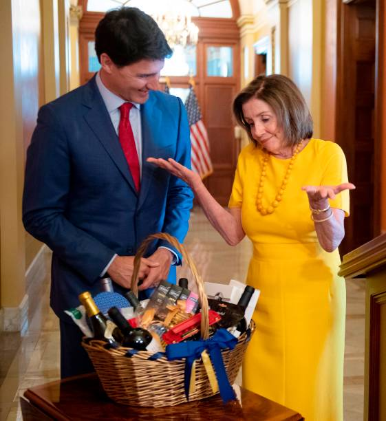 DC: Speaker Nancy Pelosi Meets With Canadian Prime Minister Justin Trudeau On The Hill