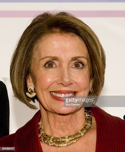 Speaker of the House Nancy Pelosi poses for photographers on the red carpet before the 32nd Kennedy Center Honors at Kennedy Center Hall of States on...