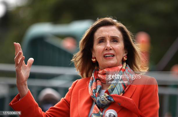 Speaker of the House Nancy Pelosi speaks during a Day of Action For the Children event at Mission Education Center Elementary School on September 02,...
