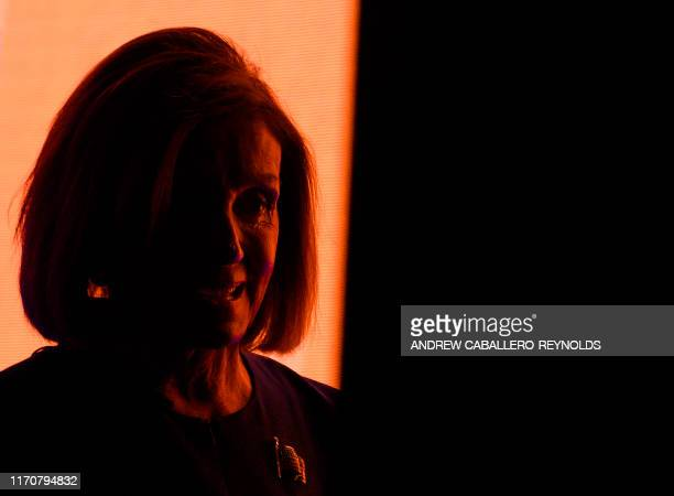 Speaker of the House Nancy Pelosi speaks during an event at the Atlantic Festival in Washington DC on September 24 2019 The push among Democrats in...