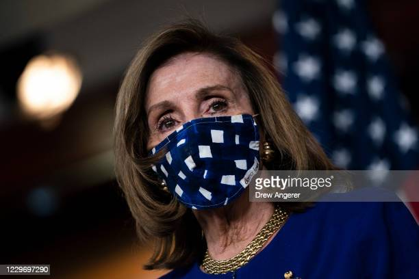Speaker of the House Nancy Pelosi speaks during her weekly news conference on Capitol Hill November 20, 2020 in Washington, DC. On Friday afternoon,...