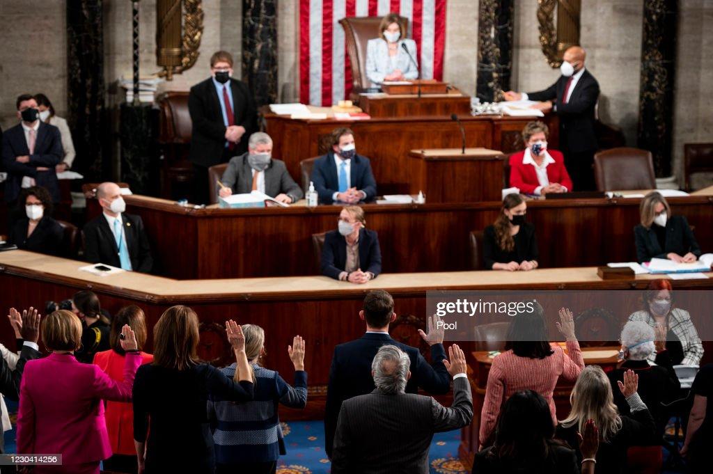 The U.S. House Of Representatives Convenes 117th Congress : News Photo