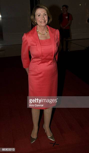 Speaker of the House Nancy Pelosi walks the red carpet at Some Enchanted Evening A Musical Birthday Salute to Senator Edward Kennedy at The Kennedy...