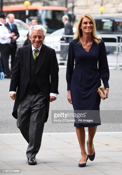 Speaker of the House of Commons John Bercow and his wife Sally arrive for a Service of Thanksgiving for the life and work of Lord Ashdown at...