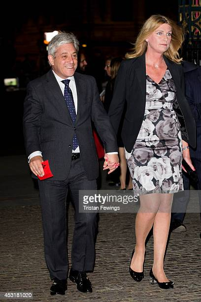 Speaker of the House of Commons John Bercow and his wife Sally Bercow attend The Vigil Of Prayer Service at Westminster Abbey on August 4 2014 in...