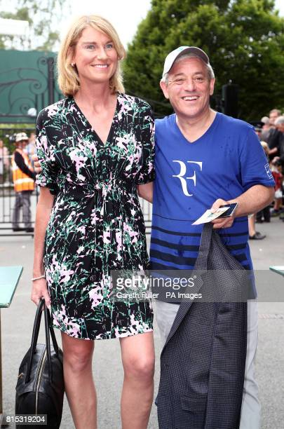 Speaker of the House of Commons John Bercow and his wife Sally on day thirteen of the Wimbledon Championships at The All England Lawn Tennis and...