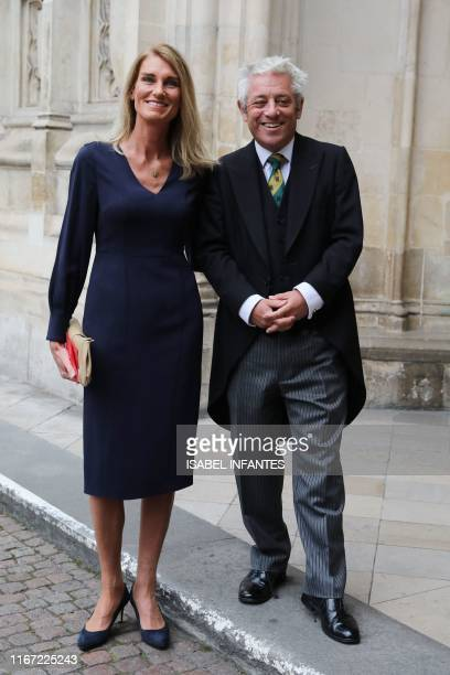 Speaker of the House of Commons John Bercow and wife Sally arrive for a Service of Thanksgiving for the life and work of Paddy Ashdown former leader...