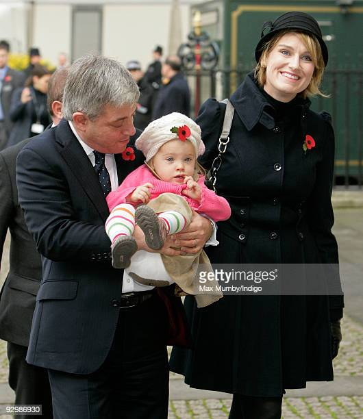 Speaker of the House of Commons John Bercow MP daughter Jemima Bercow and wife Sally Illman attend MOSCOW
