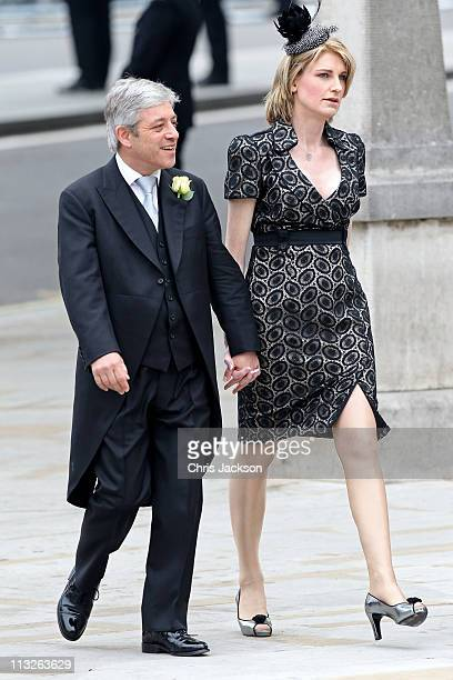 Speaker of the House of Commons John Bercow with his wife Sally Bercow arrive to attend the Royal Wedding of Prince William to Catherine Middleton at...