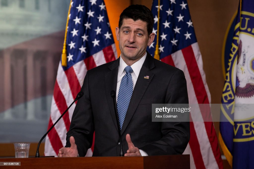 House Speaker Paul Ryan Holds Weekly News Conference At The U.S. Capitol