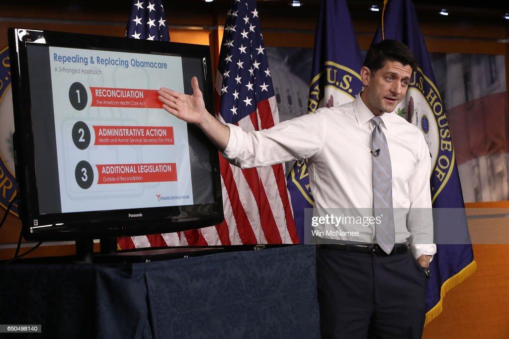 House Speaker Paul Ryan Holds Weekly Briefing