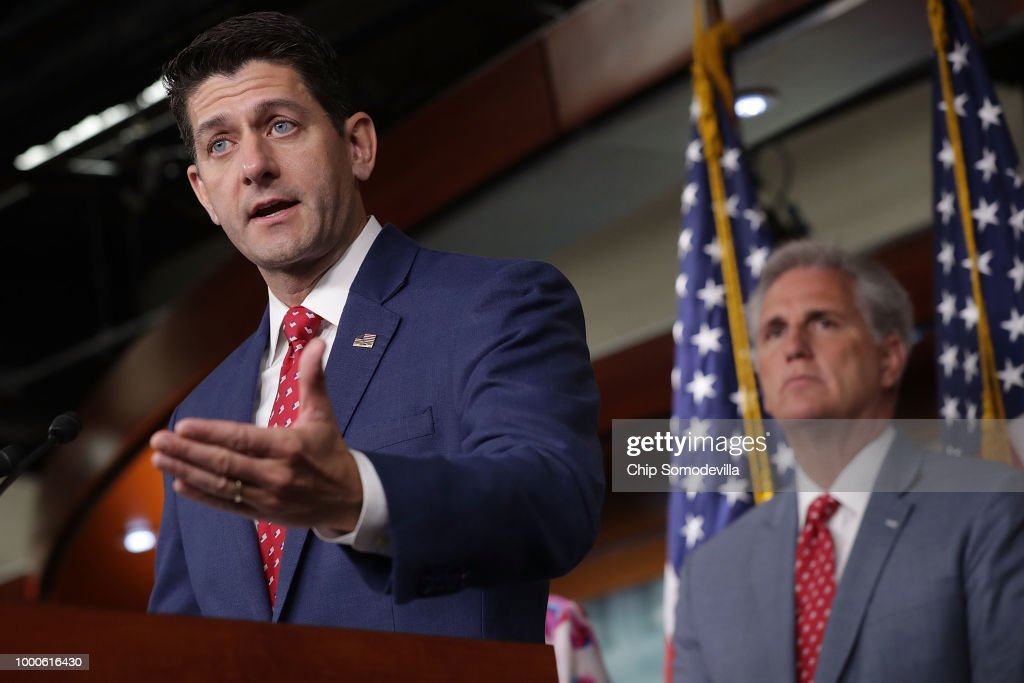 Speaker Paul Ryan And House Leadership Address The Media On Capitol Hill
