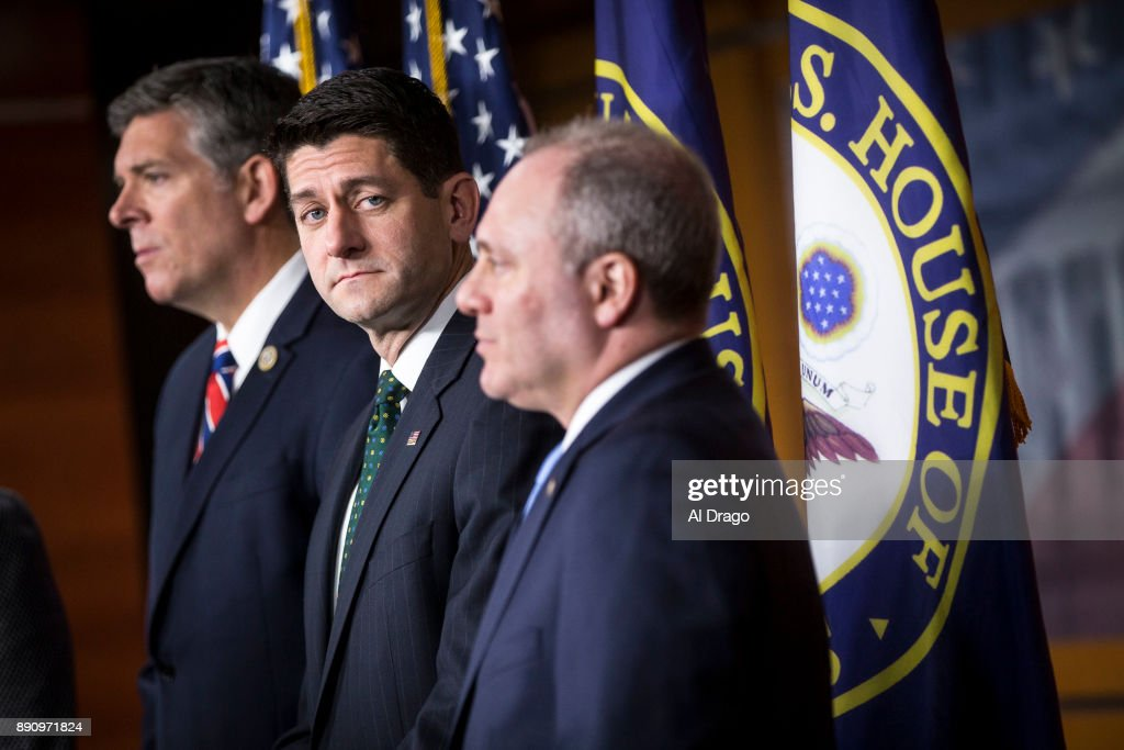 Speaker Ryan And House GOP Leadership Discuss GOP Tax Bill