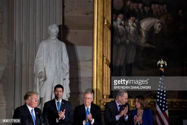 Speaker of the House Paul Ryan Senate Majority Leader Senator Mitch McConnell Senate Minority Leader Charles E Schumer and House Minority Leader...