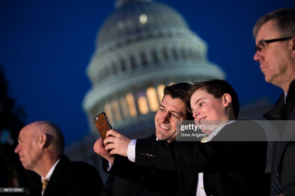 Annual U.S. Capitol Christmas Tree Lighting Ceremony Held In Washington : News Photo