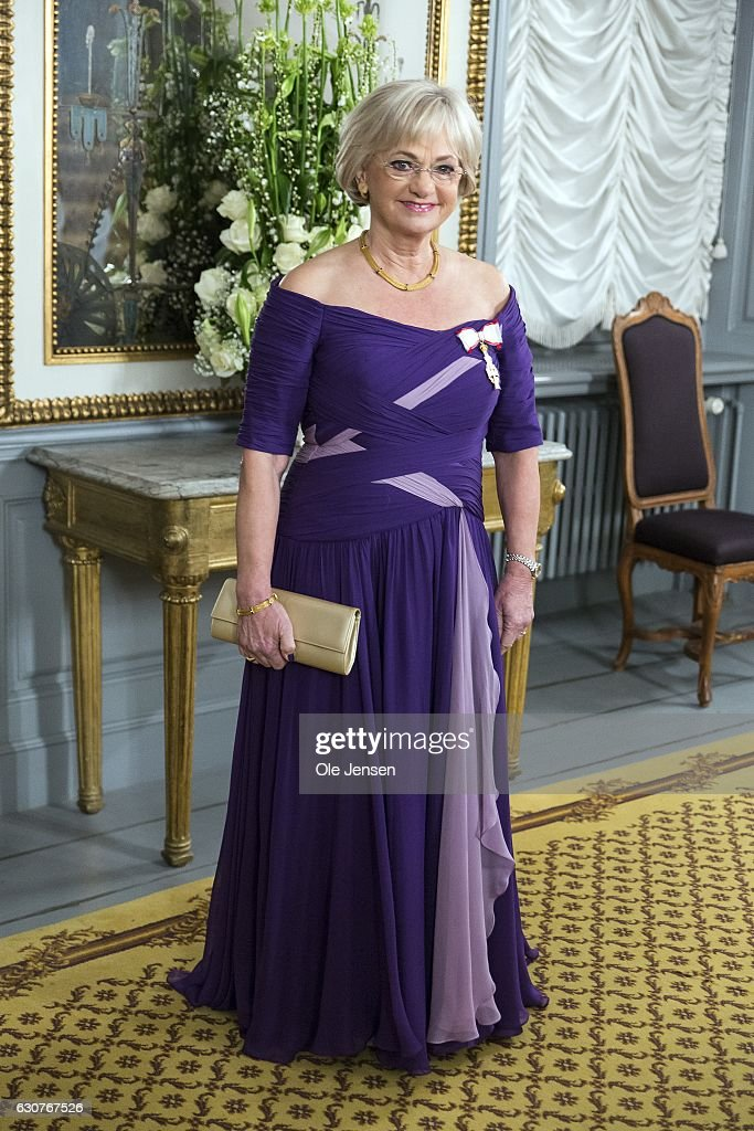 Speaker of the House Pia Kjaersgaard arrives to Queen Margrethe of Denmark's New Year's reception at Amalienborg on January 1, 2017 in Copenhagen, Denmark.