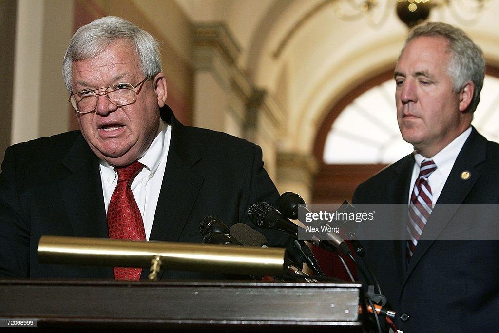 Dennis Hastert Holds Press Conference On Foley Scandal