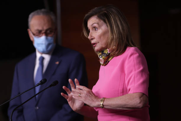 DC: House Speaker Pelosi And Democratic Leader Schumer Address Media At The Capitol