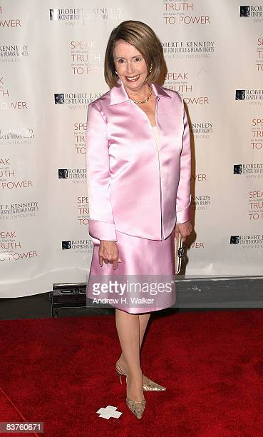 Speaker of the House Rep Nancy Pelosi attends the Robert F Kennedy Center for Justice and Human Rights Bridge Dedication Gala at Pier Sixty at...