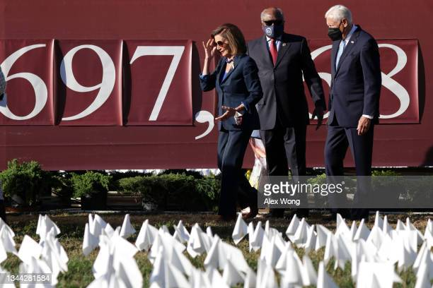 """Speaker of the House Rep. Nancy Pelosi , House Majority Whip Rep. James Clyburn and House Majority Leader Rep. Steny Hoyer visit the """"In America:..."""