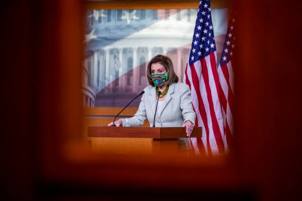 DC: Speaker Pelosi Holds Weekly Press Conference On Capitol Hill