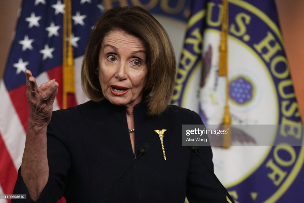 House Speaker Nancy Pelosi (D-CA) Holds Her Weekly News Conference On Capitol Hill : News Photo