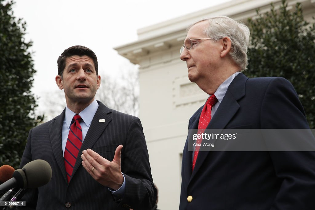 Paul Ryan And Mitch McConnell Speak To Press After Meeting With Donald Trump