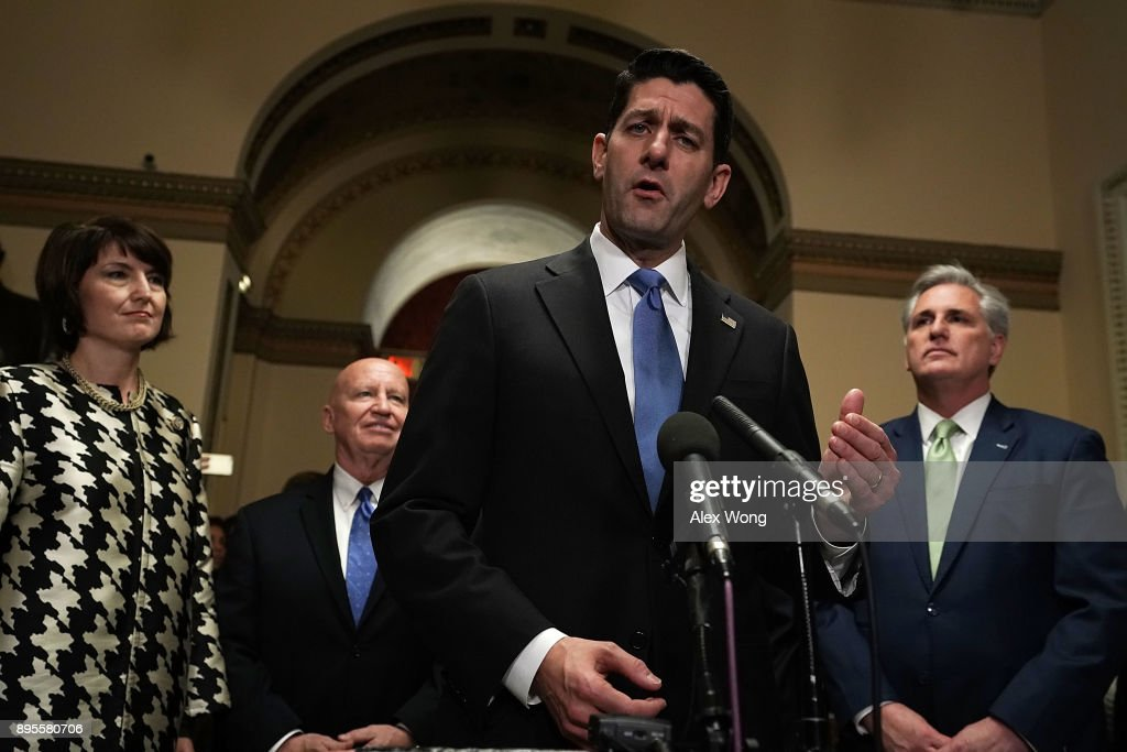 House And Senate To Vote On GOP Tax Reform Plan : News Photo