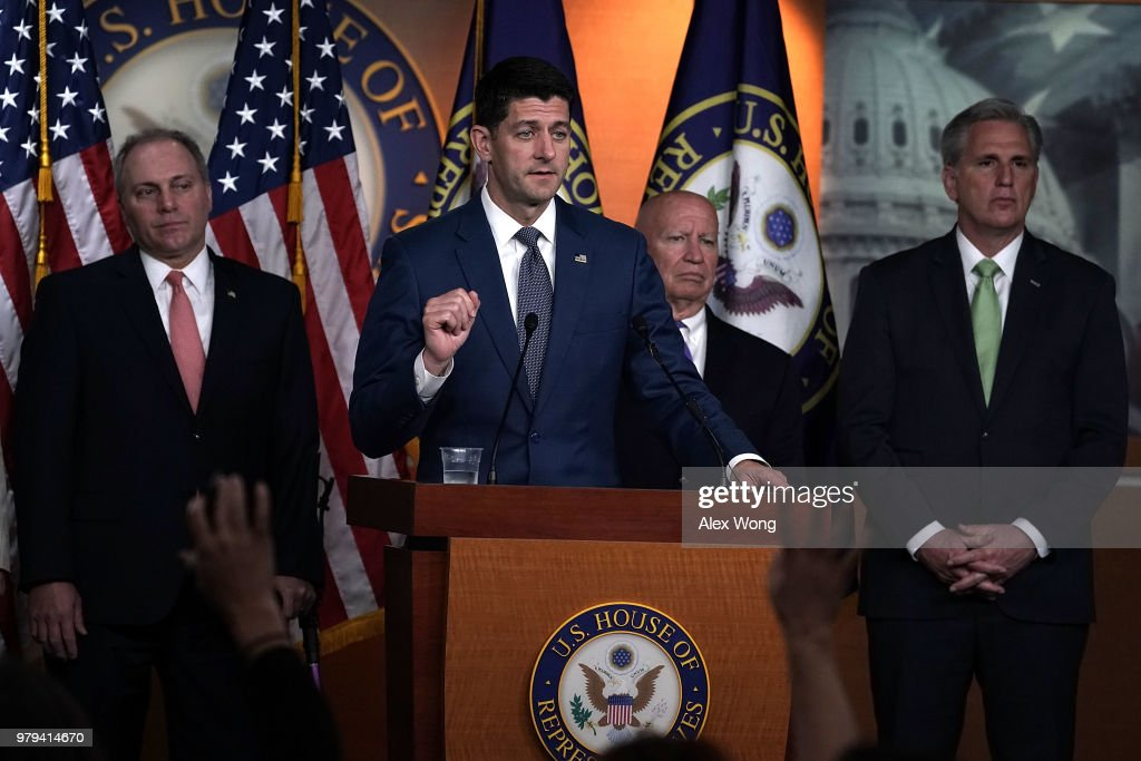 House Speaker Paul Ryan And GOP Leadership Hold News Conference On Capitol Hill