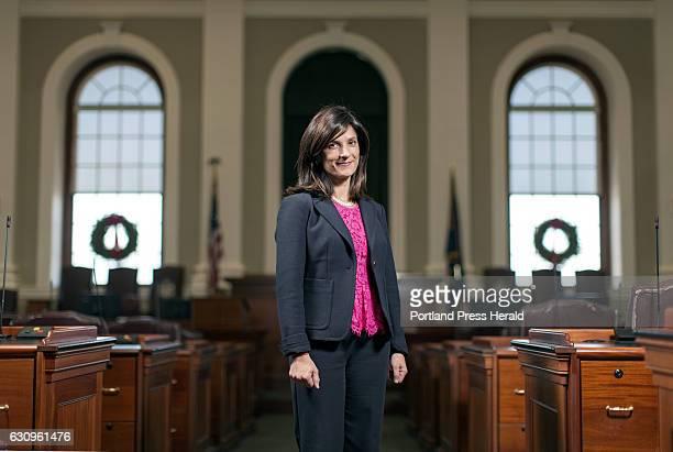Speaker of the House Sara Gideon.