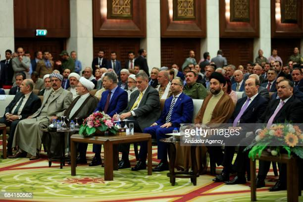 Speaker of the Iraqi Parliament Salim alJabouri and President of the Islamic Supreme Council of Iraq Ammar alHakim Special Representative of the...