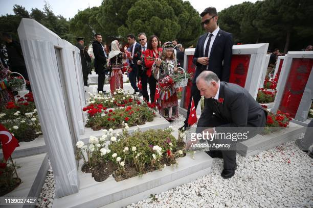 Speaker of the New Zealand House of Representatives Trevor Mallard attends the commemoration ceremony at the Martyrs' Memorial on the occasion of the...