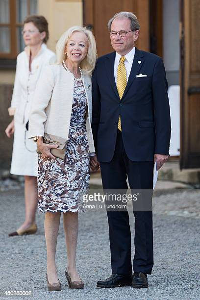 Speaker of the Swedish Riksdag Per Westerberg and Ylwa Westerberg attending the Royal Christening for Princess Leonore at Drottningholm Palace Chapel...