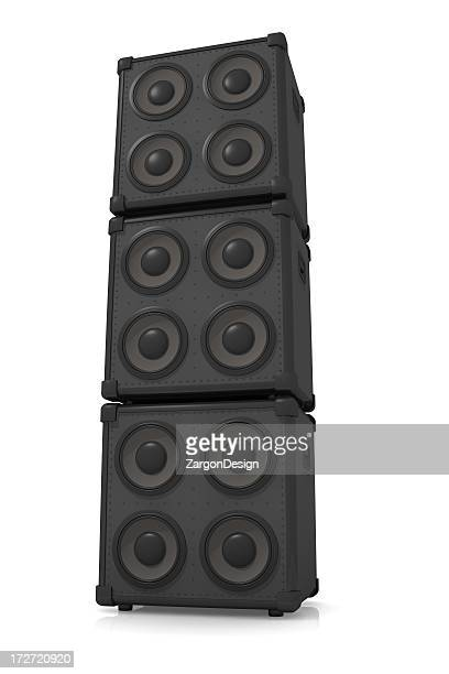 speaker stack - amplifier stock pictures, royalty-free photos & images