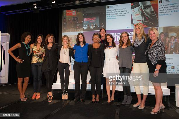 Speakers and panelist from the Opening night including ESPN Host Sage Steele Equinox President Sarah Robb O'Hagan US Paralympian Amy Purdy espnW...