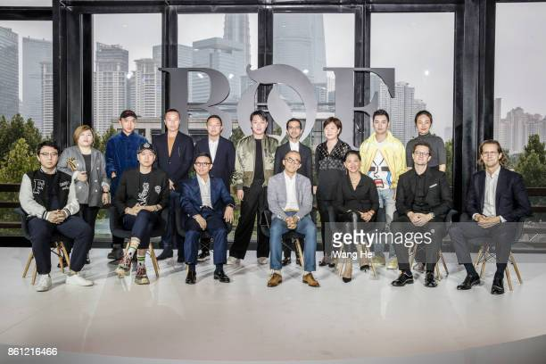 Speakers attend the BoF China Summit during Shanghai Fashion Week at Fosun Foundation on October 11 2017 in Shanghai China