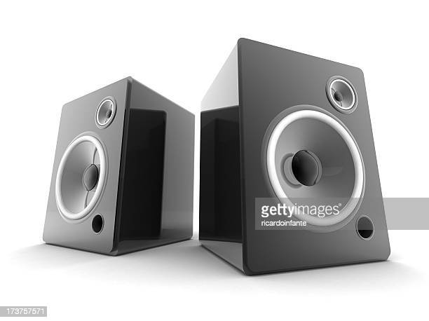 Speakers black and white