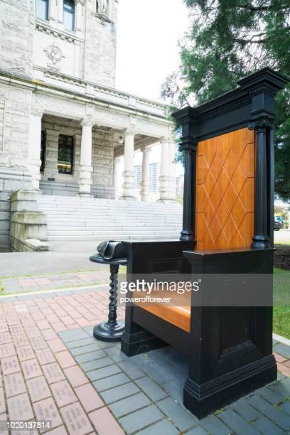 Speaker's Chair at Victoria Legislative Building in Victoria, British Columbia, Canada