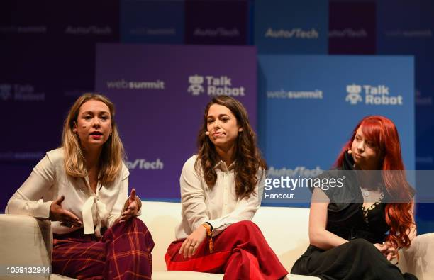 Speakers from left Polly Rodriguez CEO Unbound Babes Alexandra Fine CoFounder Dame Products and Stephanie Alys CoFounder MysteryVibe on Auto/Tech...