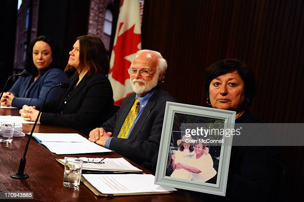 Speaking at the presser today was l to r Miranda FerrierJennifer BurgessBob Gadsby and holding a picture of her mom 86 yr old Aspacia Giagoulis who...