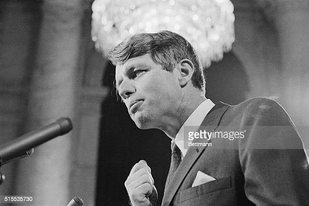 Speaking in the same Senate Caucus Room in which his brother, the late John F. Kennedy announced his candidacy for President, Senator Robert F....