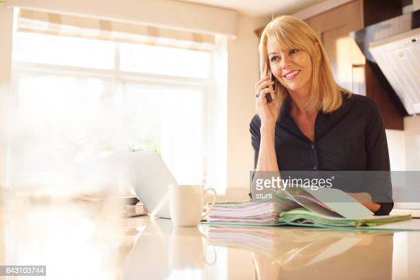 speaking to a client from home